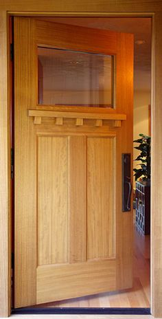Redwood Reclaimed Wood Door with Flat Top and Vertical Grain Bottom Front Door Entryway, Wooden Front Doors, Entrance Doors, Reclaimed Wood Door, Craftsman Style Doors, Recycled Door, Screen Doors, Old Doors, House Numbers