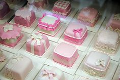 Pink mini cakes by www.fortheloveofcake.ca, via Flickr