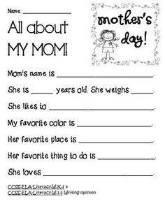 Descriptive essay about my mom best adjective images school stuff a mother s day story written and illustrated by kids aunt all about my mom mother maxwellsz