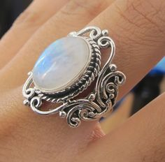 Moonstone Ring- Sterling Silver