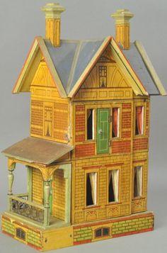 GOTTSCHALK BLUE ROOF DOLLS' HOUSE