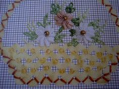 """Easy to make a """"basket weave"""" using ric rac and beads"""