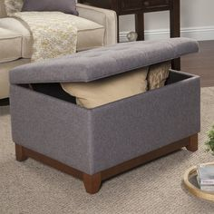 Alcott Hill Nunnally Upholstered Storage Cocktail Ottoman