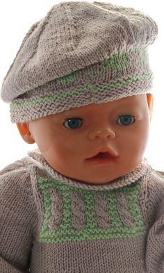 patron vetement poupee - Un adorable ensemble complet avec un joli chapeau