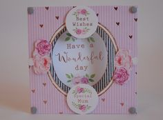 Card made by Phillipa Lewis using Craftwork Cards Heritage Rose collection.