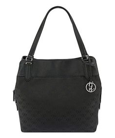 This Black Logo Jacquard Raleighy Shoulder Bag is perfect! #zulilyfinds