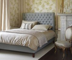 Valentin double bed in pure belgian linen 'duck egg' £895  http://www.sofa.com/shop/beds/upholstered-beds/valentin#220-LINDUC-0-0
