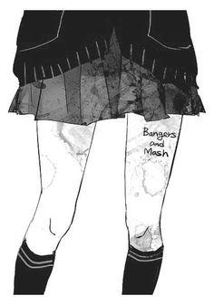 monochrom anime | via Tumblr Anime Chibi, Manga Anime, Dibujos Dark, Lonely Girl, Anime People, Manga Pictures, Anime Artwork, Anime Shows, Yandere
