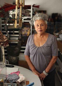 Betye Saar in her studio, 2011 October 2011