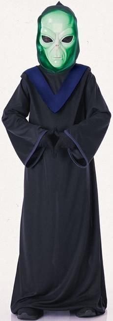 Alien Commander child #costume includes glow-in-the-dark mask, full cut hooded robe & gloves. Our Boys Alien Commander costume will be a hit at any #Halloween party or trick-or-treating adventure. Kids and adults alike will rave about this boys Alien Commander costume, which is the perfect costume for any Halloween event.