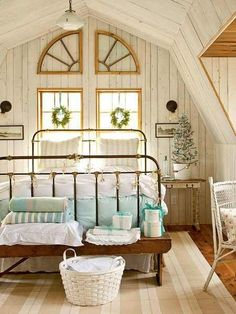In This Peaceful Guest Bedroom, Two Twin Beds With Fresh White Linens,  Sheer Curtains, And A Calming Color Palette Create The Perfect Place To  Enjoy A ...