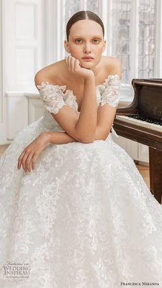 francesca miranda spring 2020 bridal off shoulder sweetheart neckline fully embellished lace a line ball gown wedding dress romantic elegant mv -- Francesca Miranda Spring 2020 Wedding Dresses Beautiful Wedding Gowns, Elegant Wedding Dress, Beautiful Bride, Gown Wedding, French Lace, Bridal Collection, Bridal Dresses, Ball Gowns, Wedding Inspiration