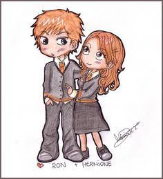 Ron+Hermione by MoniSaku on @DeviantArt