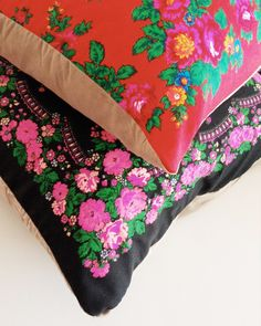Upcycled Babushka Scarf Pillows DIY