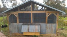 Old recycled iron chook house designed & built by Yummy Gardens Melbourne