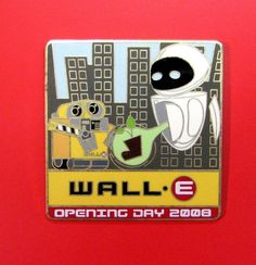 Disney Pin Wall-E  EVE Opening Day 2008 Plant New York LE 1000 WOD NYC RARE