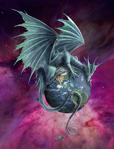 Dragon Digital Art - Earth Dragon by Rob Carlos