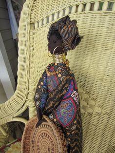 AFRICAN QUEEN DOLL Handmade Ethnic Beauty