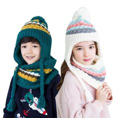 999d9a2129f 2018 Kocotree Autumn Winter Children s Cap Scarf For Boys Girls Striped  Knitted Hat For Kids 4-10 Years Old Students Hat Set. Yesterday s price  US   16.60 ...