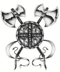 viking shield tattoo - Pesquisa Google