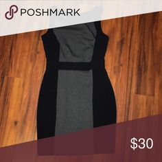 Pencil Cut Dress Professional pencil cut dress | Black with tweed running down center of front | Sleek and chic silhouette | NWOT BCX Dresses Midi