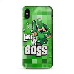 Cute Minecraft Like A Boss Iphone X 3D Case Caseperson