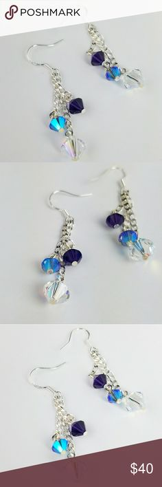 🦄BOG2FREE 🦄Fairytale Twinkle Swarovski Crystal New!! Beautiful Fairytale Twinkle Earrings. Bold and colorful Swarovski Crystals sizes large to small. 6 crystals total! On all .925 Sterling Silver hardware.   Magen's Fairytale Creations original handmade by me. Magen's Fairytale Creations Jewelry Earrings