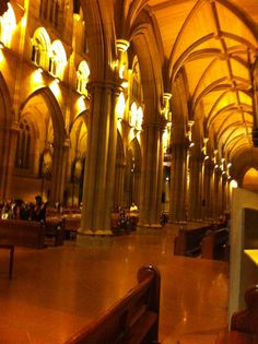 Interior view of St Mary's Cathedral Sydney. This was built to make a statement.