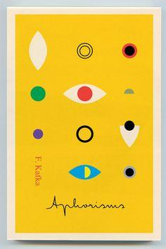 Book cover Franz Kafka – Aphorisms (Peter Mendelsund)