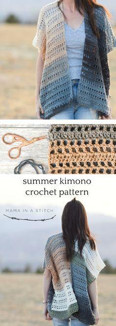 Barcelona Summer Crocheted Kimono Cardigan Pattern – Mama In A Stitch