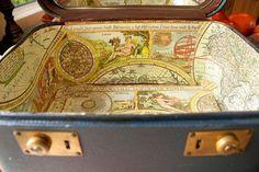 Up-cycle vintage luggage