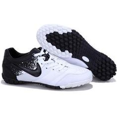 http://www.asneakers4u.com Nike5 Bomba Finale TF Astro Turf White and Black Nike5 Football Cleats