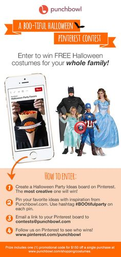 A BOO-tiful Halloween Pinterest Contest from Punchbowl