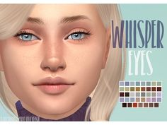 Whisper Eyes by The Sims 4 Whisper Eyes by Sims 4 Whisper Eyes by Lure Eyes & Lashes for Powder Pack - Lelutka (August) Sims 4 Cc Eyes, Sims 4 Mm Cc, Sims 4 Teen, Sims 4 Toddler, Maxis, Sims 4 Tattoos, The Sims 4 Skin, The Sims 4 Cabelos, Sims 4 Children