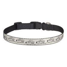 "#""Dogs and Boats""  Dog Collar - cyo customize design idea do it yourself diy"