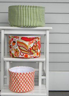 Round Nesting Baskets {Tutorial}