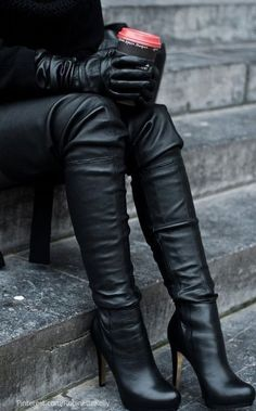 Winter done right = a luxe leather look.