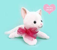 5adecdb02f6 PDF sewing pattern - cat laying lying stuffed animal - large kawaii feline plushie  easy DIY plush soft toy kitten 15
