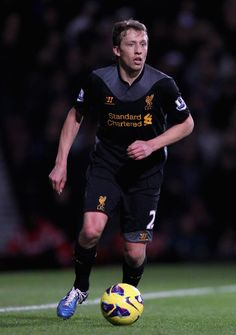Liverpool midfield general Lucas Leiva in action at Upton Park. #LFC
