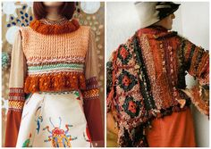 Knit and crochet sweater inspiration
