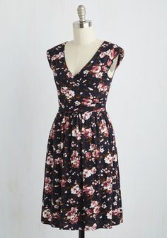 Breezier Said Than Done Dress in Navy. Did someone suggest leaving the boardwalk? #multi #modcloth