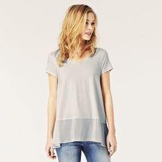 Silk Hem T-Shirt | The White Company