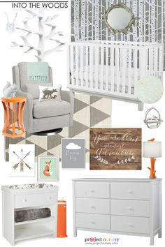 Woodland Nursery Design Board - Project Nursery