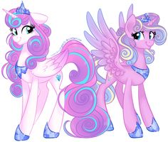 You guys asked for more MLP future universe stuff, so here you go!! It's Princess Flurry Heart and her younger sister, Princess Skyla (if you're wondering who Skyla is, she's from a toy that came o...
