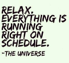 Cure Long-term Illness - Relax everything is running right on schedule. The universe. Great inspirational quote about the universe. Cure Long-term Illness - My long term illness is finally going away, and I think I might have found the love of my life. Motivational Quotes For Students, Motivating Quotes, Motivational Phrases, Tarot, Quotes To Live By, Life Quotes, Quotes Quotes, Qoutes, Stupid Quotes