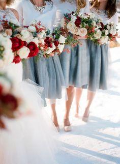 Sumptuous Peony, Rose and Berry Winter Bridal Bouquet - Mon Cheri Bridals