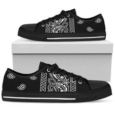 e76eed6f798 Bandana Fever Black Bandana Print Low Top Shoes  shopping  fashion  bandoez   style  bandana