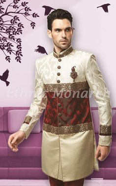 Cream Color Indo Western http://www.ethnicmonarch.com/menswear/indo-westerns/cream-color-indo-western.html