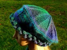 Medium Victoria Tam in Dragonfly Colorway Handknit by MountainMist