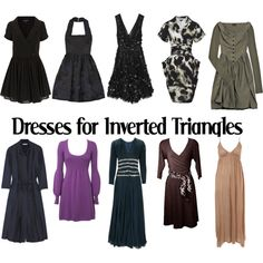 Dresses for Inverted Triangles-AW by kittyfantastica on Polyvore